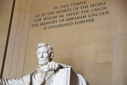 Lincoln Memorial in Washington D.C., 2017