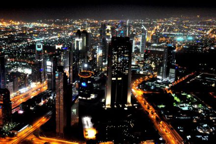 Night View of Dubai, 2013