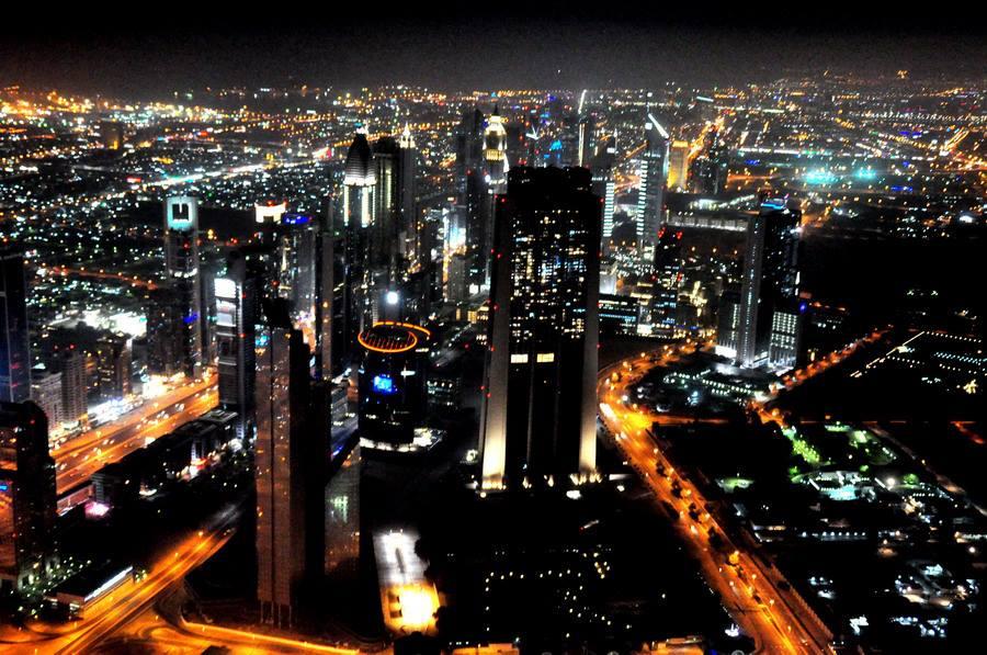 Night View of Dubai, 2013